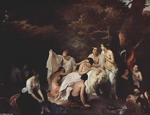 Francesco Hayez - nymphes de baignade