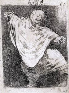 Francisco De Goya - phantom dancing with castanets