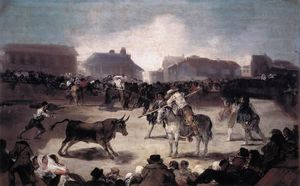 Francisco De Goya - Un Village Corrida