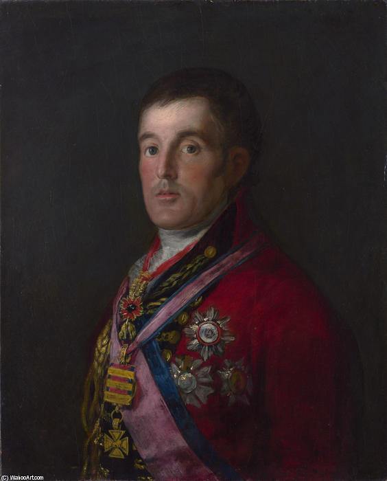 Le duc de Wellington, 1814 de Francisco De Goya (1746-1828, Spain)