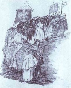 Francisco De Goya - Procession de moines