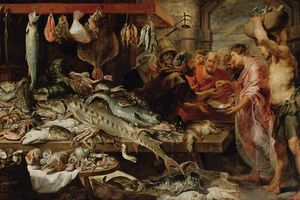 Frans Snyders - poisson marché