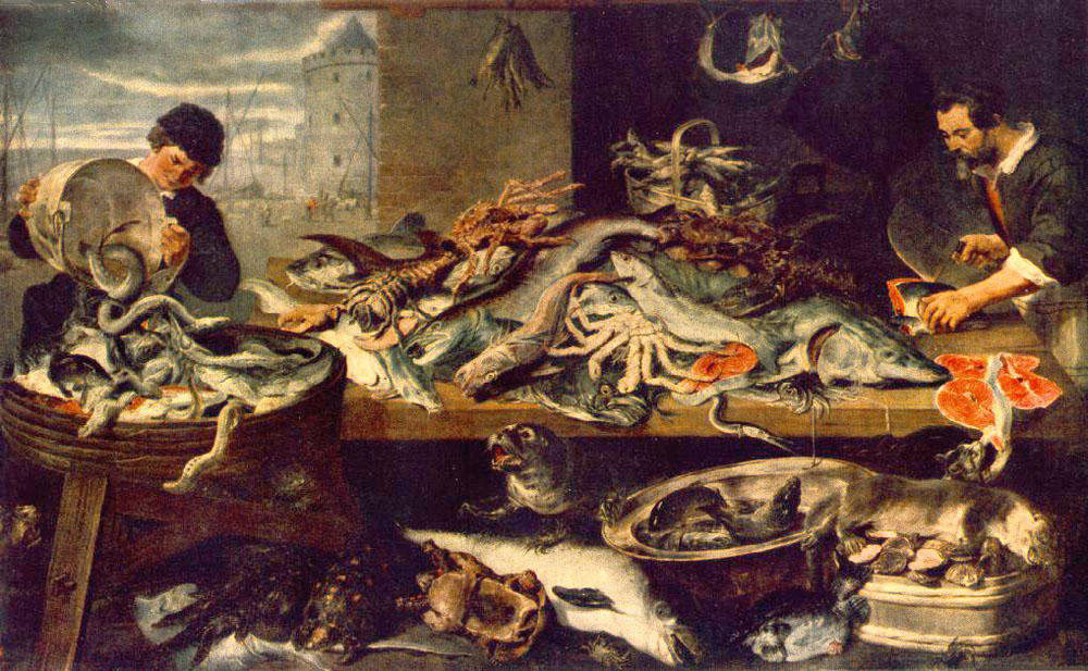 poisson boutique, 1621 de Frans Snyders (1579-1657, Belgium) | Reproductions D'art Frans Snyders | WahooArt.com