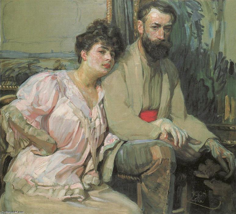 auto portrait avec épouse, 1908 de Frantisek Kupka (1871-1957, Czech Republic) |  | WahooArt.com