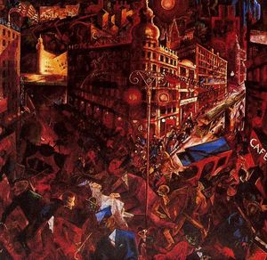 George Grosz - de la ville - (copie de tableau)