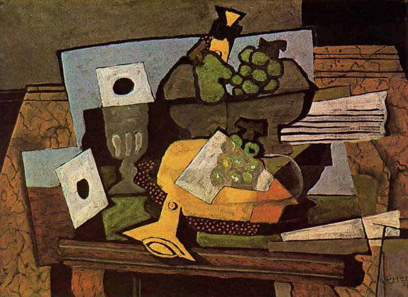 Nature morte avec clarinette huile sur toile de georges for Braque peintre