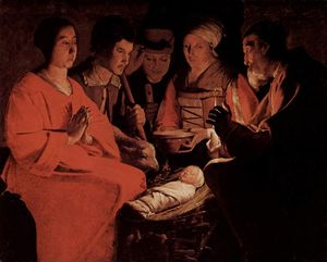 Georges De La Tour - le adoration de l- `shepherds