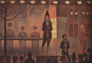 Georges Pierre Seurat - Cirque Sideshow