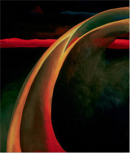 Georgia Totto O-keeffe - Rouge et orange Streak