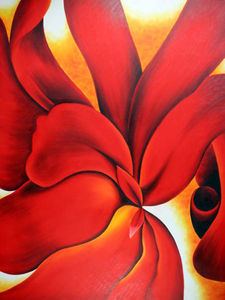 Georgia O-keeffe - Cannas rouges