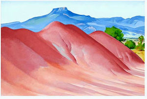 Georgia O-keeffe - Red Hills et Pedernal