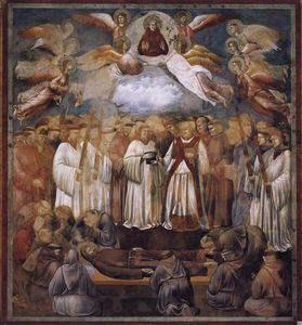 Giotto Di Bondone - La mort et L ascension de st . Francis