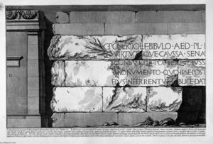Giovanni Battista Piranesi - les antiquités romaines , t . 2 , plaque v