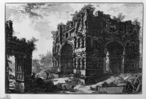 Giovanni Battista Piranesi - Communément appelé le temple de Janus