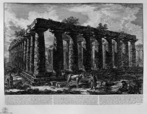 Giovanni Battista Piranesi - Vue d une colonnade formant un quadrilatère