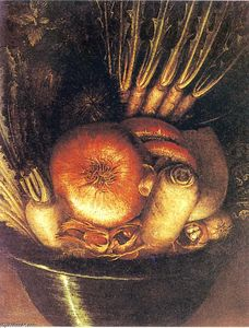 Giuseppe Arcimboldo - Le Vegetable Bowl