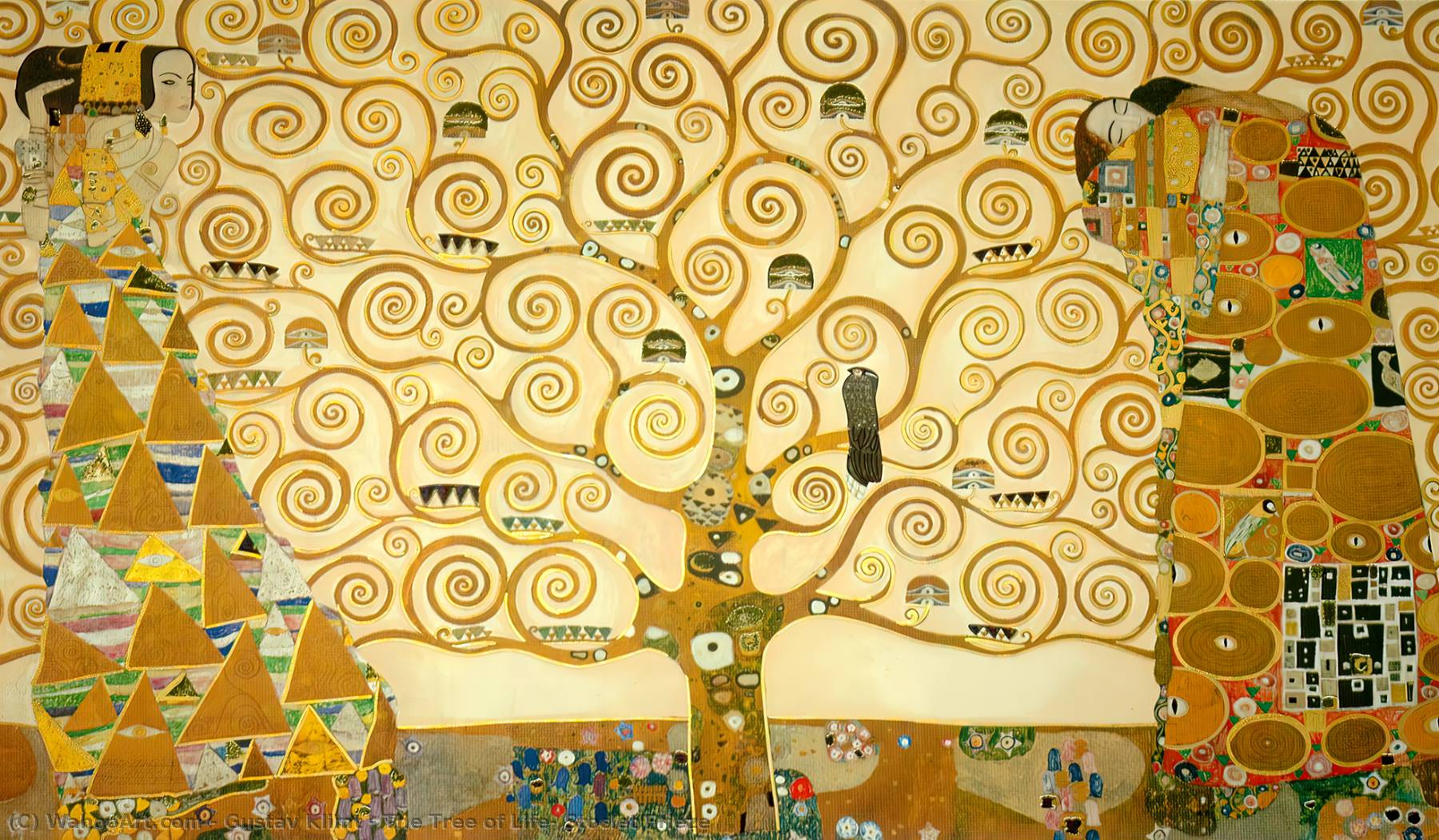 L 39 arbre de la vie stoclet frise 1909 de gustav klimt for Biographie de klimt