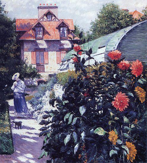 Le Jardin Au Petit Gennevilliers Huile Sur Toile De