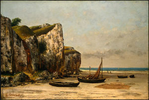 Gustave Courbet - Beach en Normandie