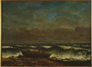 Gustave Courbet - Mer houleuse la  onde
