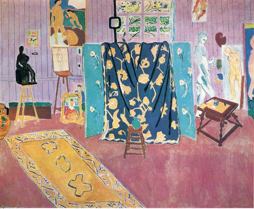 le rose studio huile sur toile de henri matisse 1869 1954 france. Black Bedroom Furniture Sets. Home Design Ideas