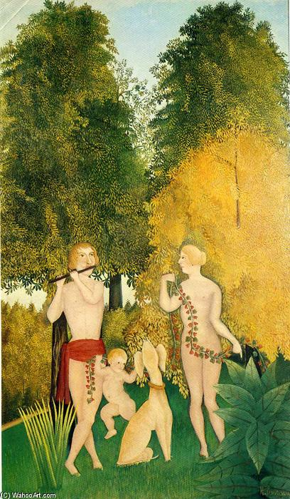 The Happy Quartet, 1902 de Henri Julien Félix Rousseau (Le Douanier) | Reproductions D'art Sur Toile | WahooArt.com