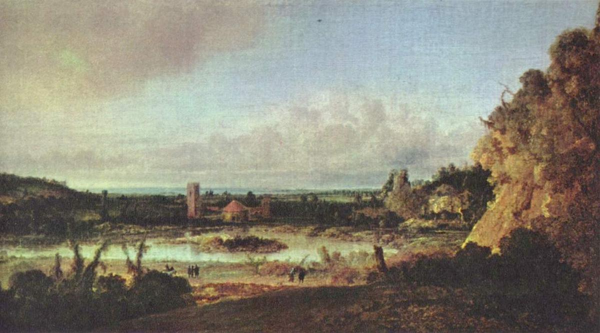 panoramique paysage, 1625 de Hercules Seghers (1590-1638, Netherlands)