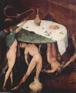 Hieronymus Bosch - Le Temptation of St .  Anthony ( détail )