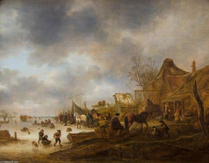 Isaac Van Ostade - paysage dhiver