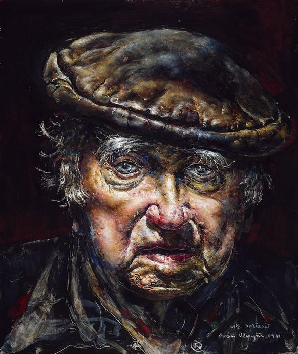 Autoportrait, 1981 de Ivan Albright (1897-1983, United States)