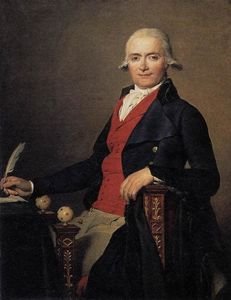 Jacques Louis David - gaspard meyer ou l homme au gilet rouge