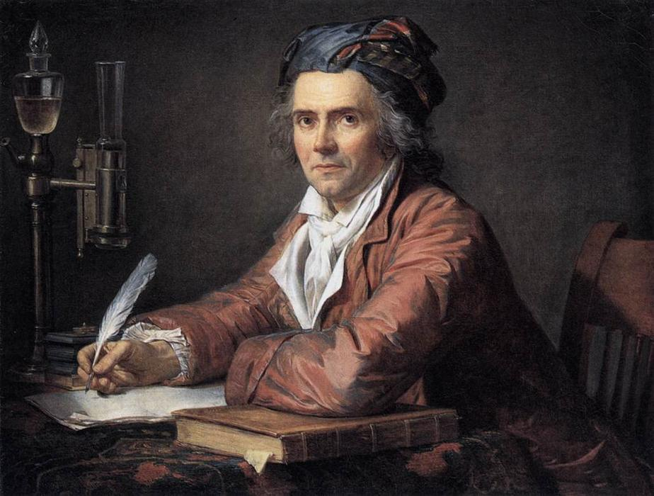 Portrait d Alphonse Leroy, 1783 de Jacques Louis David (1748-1800, France) | Reproductions D'art Sur Toile | WahooArt.com