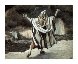 James Jacques Joseph Tissot - Abraham voit Sodome in Flames