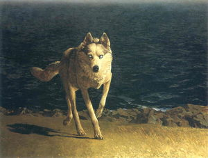 Jamie Wyeth - loup chien