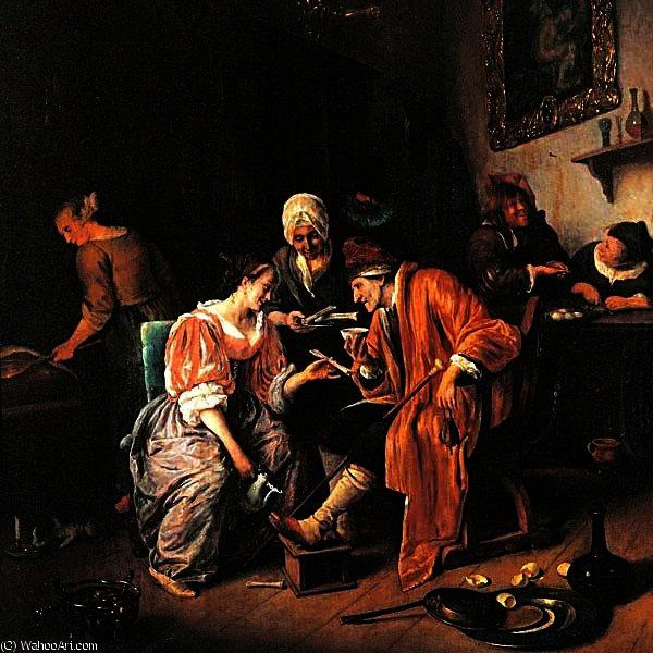 vieil homme malade 1660 de jan steen 1626 1679 netherlands. Black Bedroom Furniture Sets. Home Design Ideas