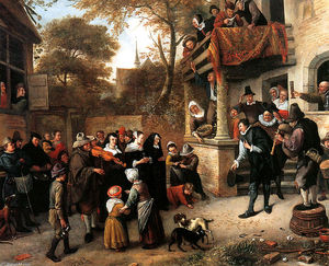 Jan Steen - a village mariage