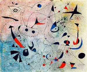 Joan Miro - Constellation : le matin étoile