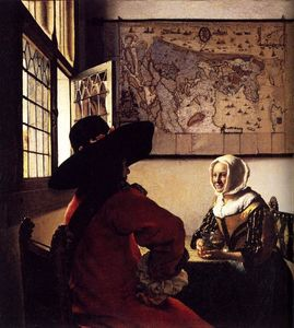 Jan Vermeer - Officier et Laughing Girl