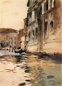 John Singer Sargent - vénitien canal Palazzo Coin