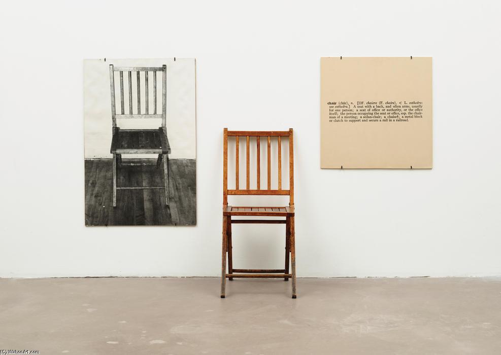 Une et trois chaises 1965 de joseph kosuth - Mille et une chaises ...