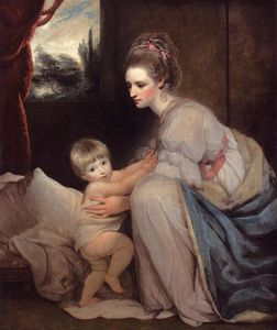 Joshua Reynolds - Mme . william beresford et son fils John , plus tard seigneur decies
