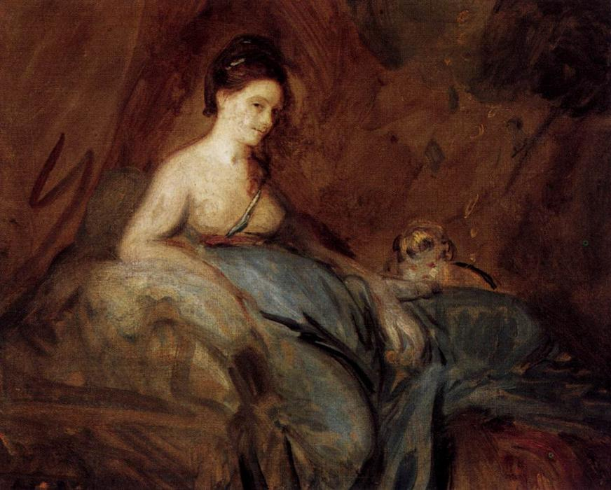 L actrice Kitty Fisher de Joshua Reynolds (1723-1792, United Kingdom) | Reproductions De Peintures Joshua Reynolds | WahooArt.com
