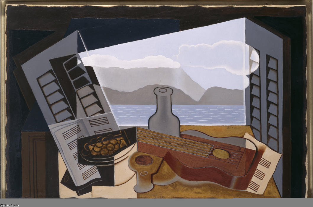 La fen tre ouverte l huile sur toile de juan gris 1887 for Fenetre ouverte sur paysage