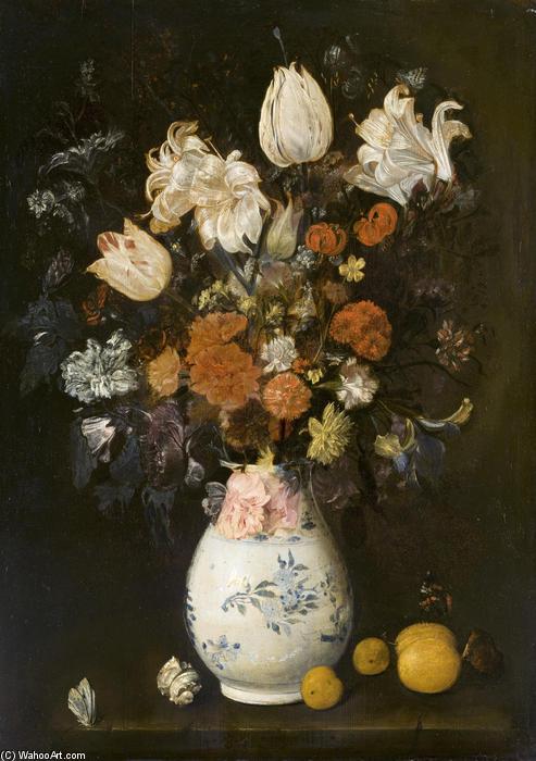 Fleurs dans un vase, huile sur toile de Judith Leyster (1609-1660, Netherlands)