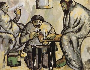 Kazimir Severinovich Malevich - pedicurist` dans le thermes