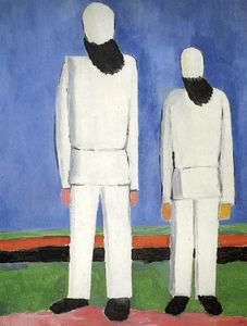 Kazimir Severinovich Malevich - Deux personnages masculins