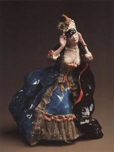 Konstantin Somov - dame `taking` éteint a masque