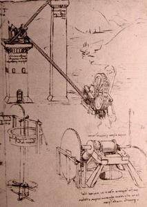 Leonardo Da Vinci - Dessins de machines