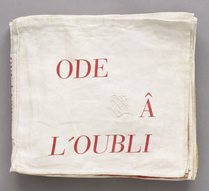 Louise Joséphine Bourgeois - Ode à l Oubli