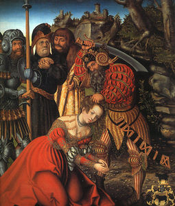 Lucas Cranach The Elder - le martyre of r . Barbara